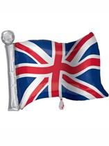 "Union Jack Flag Supershape 27"" Foil Balloon"