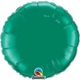 """Emerald Green 18"""" Round Foil Balloon Pkgd"""