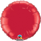 """Ruby Red 18"""" Round Foil Balloon"""