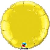 "Citrine Yellow 18"" Round Foil Balloon"