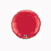"""Ruby Red 4"""" Round Foil Balloon"""