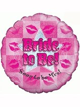"Bride to Be Hen Party Holographic 18"" Foil Balloon"
