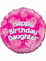 "18"" Happy Birthday Daughter Holographic Foil Balloon"