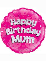 Happy Birthday Mum Holographic Foil Balloon
