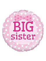 "Pink Big Sister 18"" Foil Balloon"