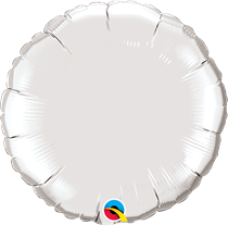 Qualatex 18 Inch Silver Round Foil Balloon