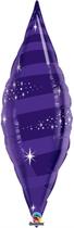 """Quartz Purple 38"""" Foil Taper Swirl"""