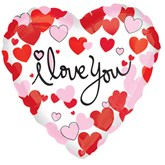 "I Love You Hearts 18"" Foil Balloon"