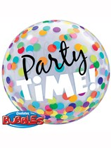 Party Time Confetti Bubble Balloon 22""