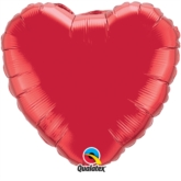 "Ruby Red 18"" Heart Foil Balloon Pkgd"