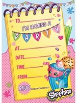 Shopkins Party Invitations & Envelopes 20pk