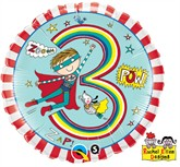 "Rachel Ellen 18"" 3rd Birthday Boy Balloon"