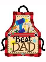 """Best Dad Apron 41"""" Supershape Foil Balloon"""
