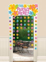 Luau Party Door Curtain