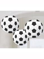 Football Hanging Lantern Decorations 3pk