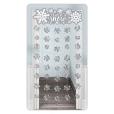 Christmas Silver Snowflake Door Curtain