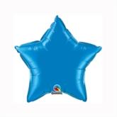 """Sapphire Blue 9"""" Star Foil Balloon"""