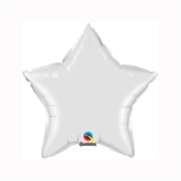 "White 9"" Star Foil Balloon"