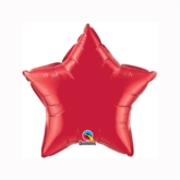 """Ruby Red 9"""" Star Foil Balloon"""