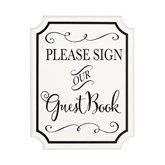 Wedding MDF Guest Book Sign With Stand