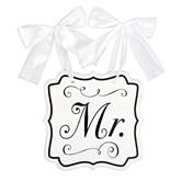 Wedding MDF Chair Sign Mr