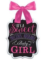 Sweet Baby Girl Sign