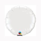 """White 9"""" Round Foil Balloon"""