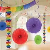 Rainbow Multi Colour Room Decoration Kit 18pce