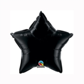 "Onyx Black 9"" Star Foil Balloon"