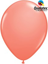 Qualatex coral 11 inch latex balloons 25 pack