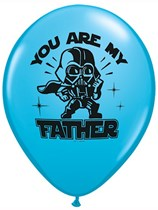 "Star Wars You are My Father 11"" Latex Balloons 25pk"