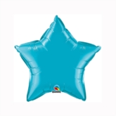 "Turquoise 9"" Star Foil Balloon"