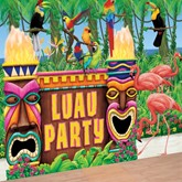 Luau Party Wall Decorating Kit