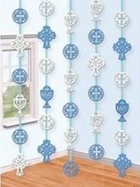 Blue Communion Felt Hanging Decorations 5pk