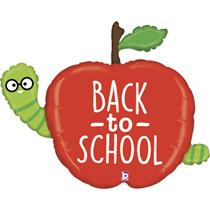 "Back To School Apple 40"" Foil Balloon"
