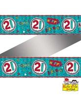 Rachel Ellen Blue Age 21 Foil Banner