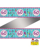Rachel Ellen Perfect Pink Age 60 Foil Banner