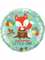 """Welcome Little One Woodland 18"""" Foil Balloon"""