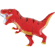 "Red T-Rex Dinosaur 40"" Foil Balloon"