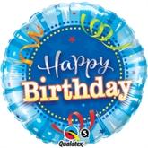 "Happy Birthday Bright Blue 18"" Foil Balloon"
