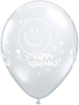 "Clear ""Happy Retirement"" 11"" Latex Balloons 25pk"