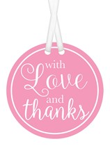 With Love and Thanks Gift Tags 25pk - Pink
