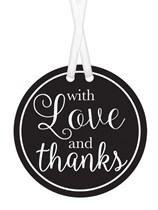 With Love and Thanks Gift Tags 25pk - Black