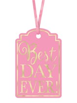 Best Day Ever! Gift Tags 25pk - Pink