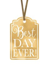 Best Day Ever! Gift Tags 25pk - Gold