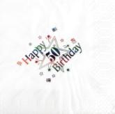 50th Birthday White Napkins - 15pk