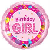 "18"" Pink Birthday Girl Foil Balloon"