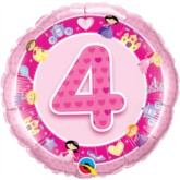 "4th Birthday Pink Princess 18"" Foil Balloon"