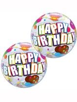"Happy Birthday Cupcake 12"" Air Fill Bubble Balloons 10pk"
