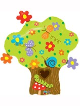 """Enchanted Tree 37"""" Supershape Foil Balloon"""